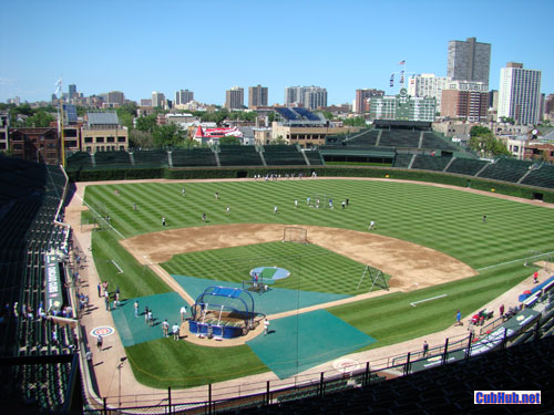 Wrigley Field batting practice