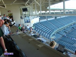 Wrigley Field press box