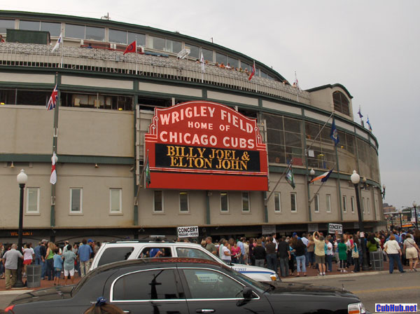 Billy Joel and Elton John at Wrigley Field in Chicago