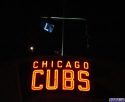 L flag flying at Wrigley Field