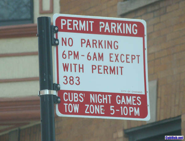 No Parking in Wrigleyville
