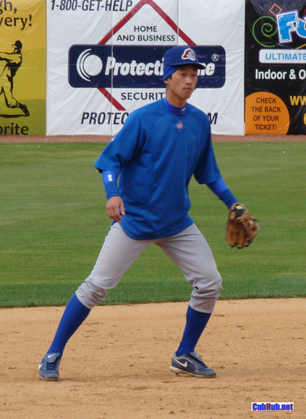 Hak-Ju Lee of the Peoria Chiefs