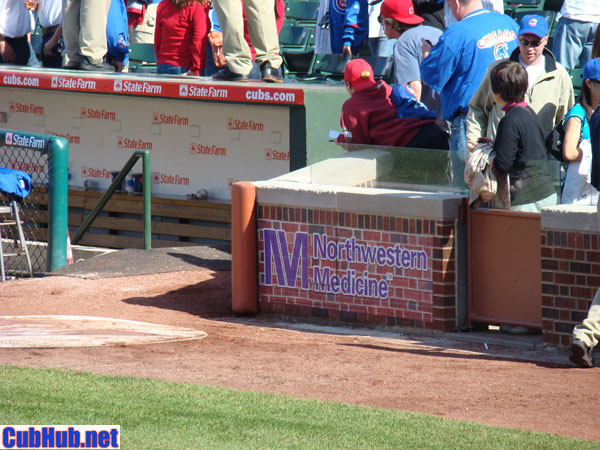 On-field marketing at Wrigley Field