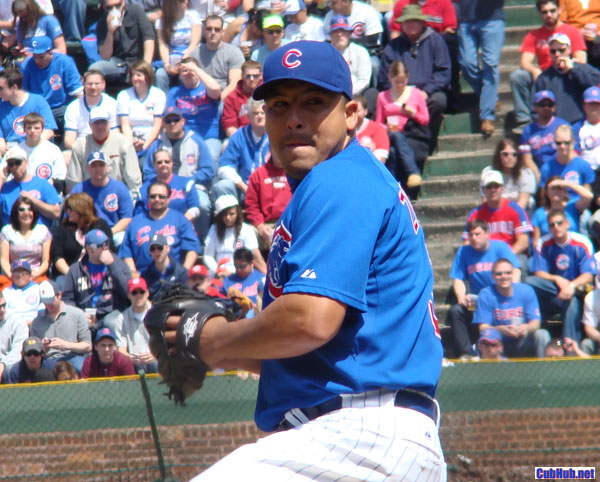 Carlos Zambrano pitches at Wrigley Field