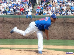 Cubs pitcher Carlos Zambrano at Wrigley Field in Chicago