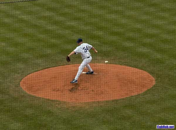 Kerry Wood pitching at Wrigley Field